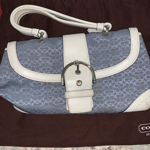 Coach Blue Mini Tote